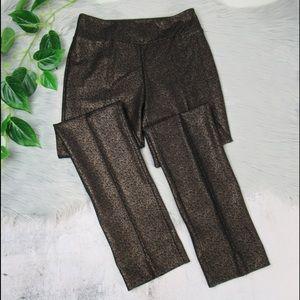 Insight Metallic Print Straight Leg Scuba Pants 2